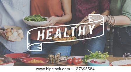 Healthy Eating Party Celebration Concept