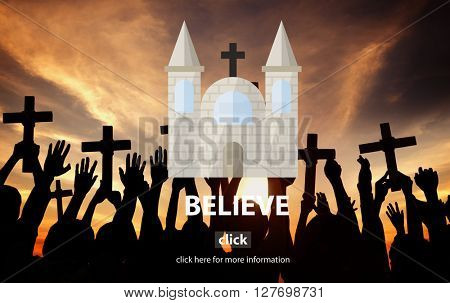 Believe Faith Hope Ideas Imagine Inspiration Concept