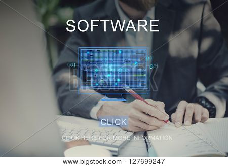 Software Technology Computing Data Digital Concept
