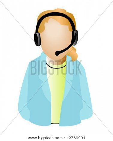 Call Center Agent - Vector