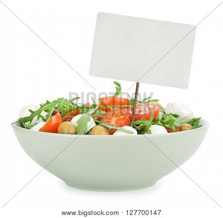 Healthy Salad Isolated