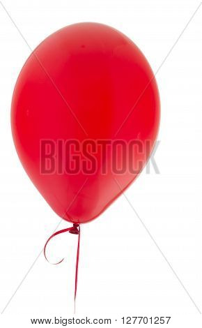 Red Helium balloon isolated on a white background