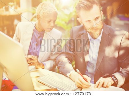 Business People Meeting Conversation Communication Concept