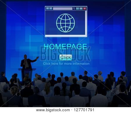 Internet HTML Homepage Browser Big Data Concept