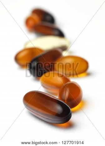 Gel Capsule isolated on a white background
