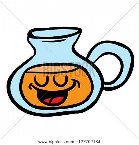 happy lemonade jug cartoon illustration