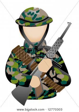 Soldier Icon - Vector