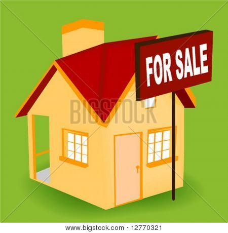 House for Sale Icon - Vector