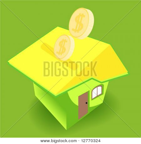 Saving for a House Icon - Vector