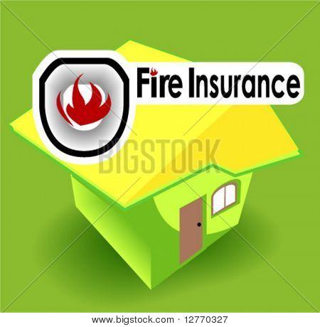 Fire Insurance Icon - Vector