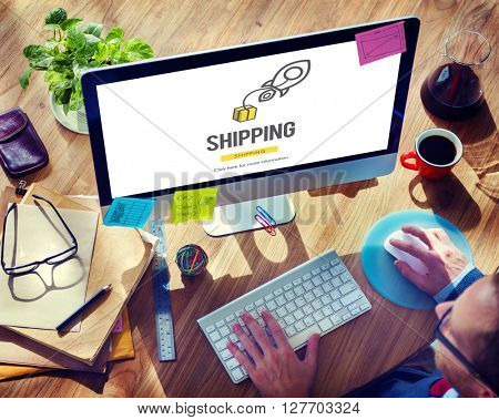Shipping Logistics Cargo Freight Manufacturing Concept