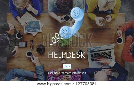 Help Desk Helping Assistance Advice Support Concept