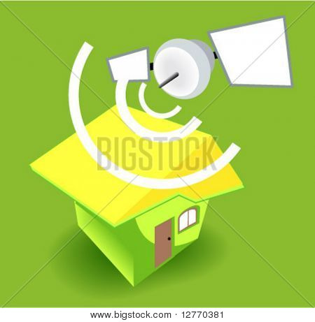 House Satellite - Vector