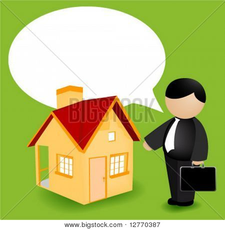 Real Estate Agent - Vector