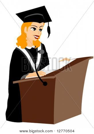 Graduation Speech - Vector