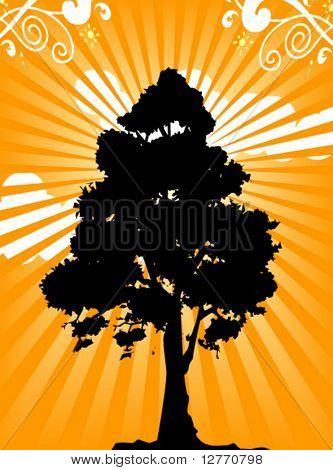 Tree Silhouette - Vector