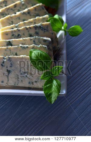 Gorgonzola Cheese With Basil