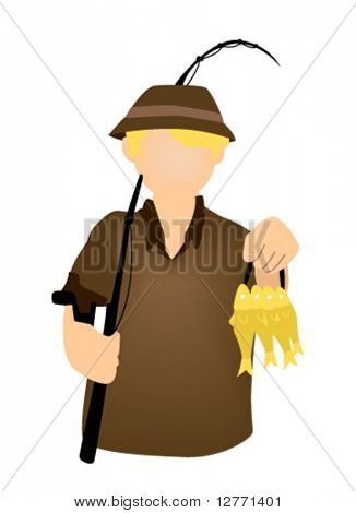 Fisherman Icon - Vector
