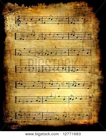 Antique Music Sheet Background