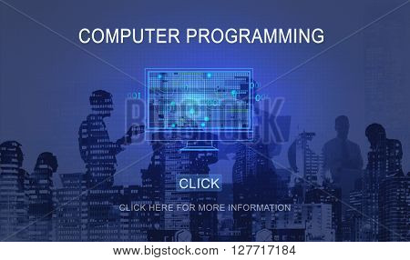 Computer Programming Technology Data  Concept