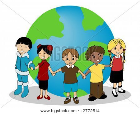 Children around the Globe - Vector
