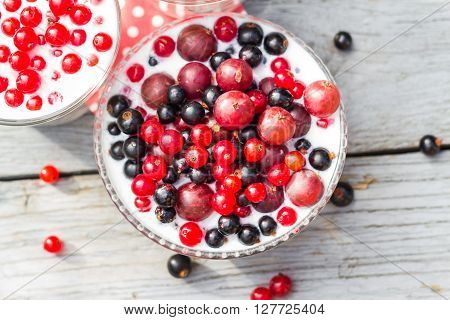 Cocktail Red Fruits Black Currant Table Garden