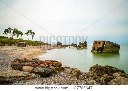 View On Abandoned Ussr Northern Fotress, Liepaja