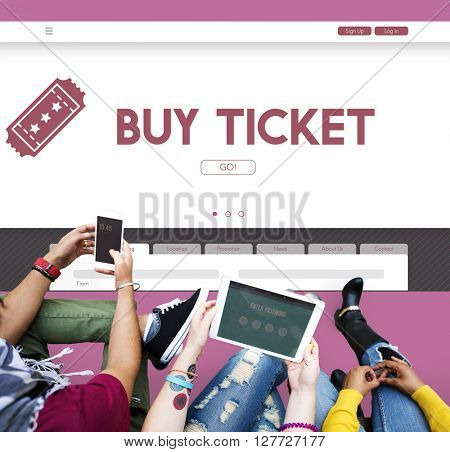 Buy Ticket Online Travel Holiday Concept