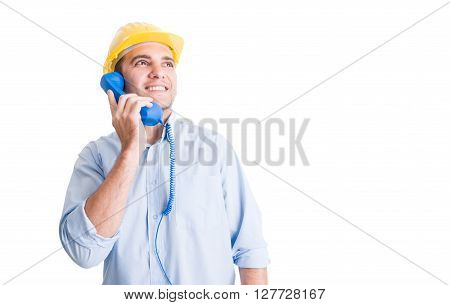 Visionary Engineer Talking On The Phone