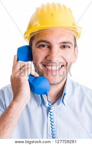 Construction Company Contact Us Concept