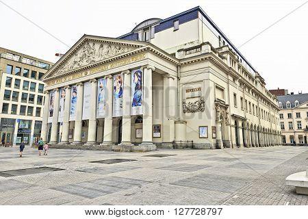 The Royal Theatre La Monnaie In Brussels In Belgium