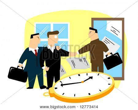 Business Concept: Business Deal - Vector