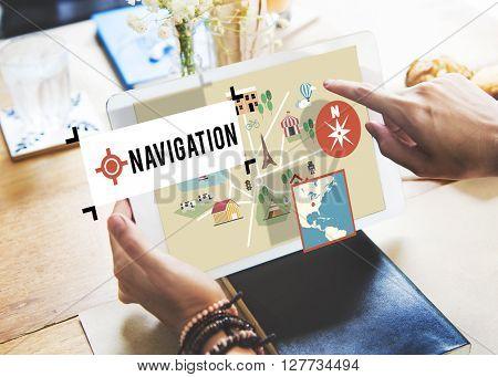 Navigation Location Position Transportation Map Concept