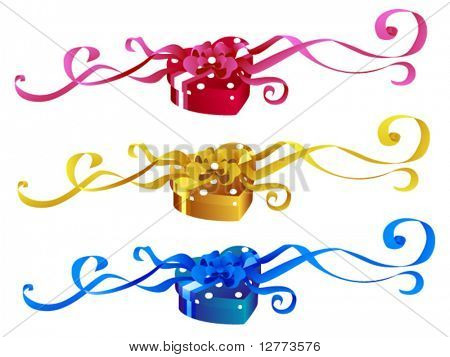 Heart Shaped Gifts -  Vector