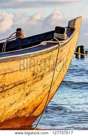Small Wooden Fishing Boat