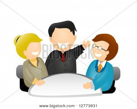 Business Meeting Icon - Vector