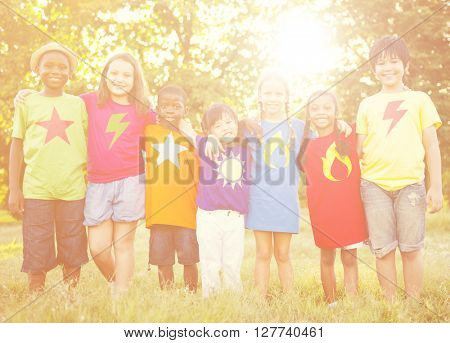 Children Playful Enjoyment Friendship Concept