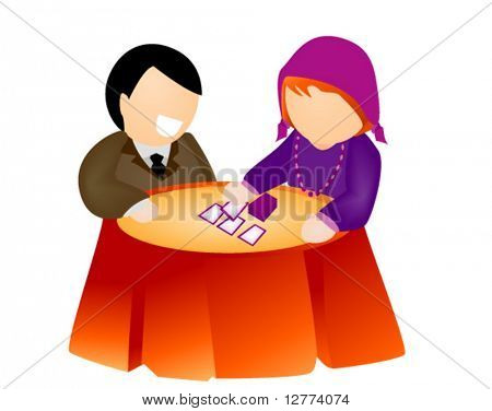 Fortune Telling - Vector Icon