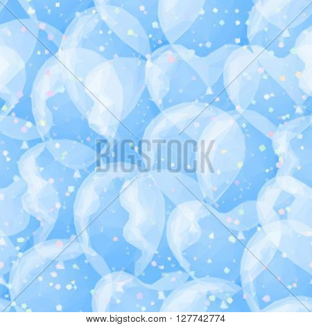 Abstract Background, Colorful balloon Low Poly Design. Vector