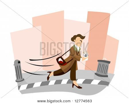 Business Concepts: Rush Hour - Vector