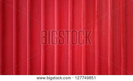 Texture of red galvanized iron plate for background