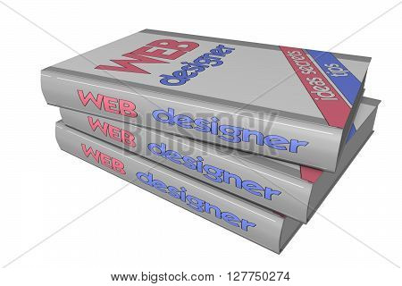 3D model books on WEB design, web-design