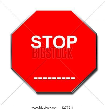 Stop Sign Blank