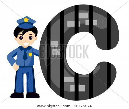 Alphabet Kids (Cop) - Vector