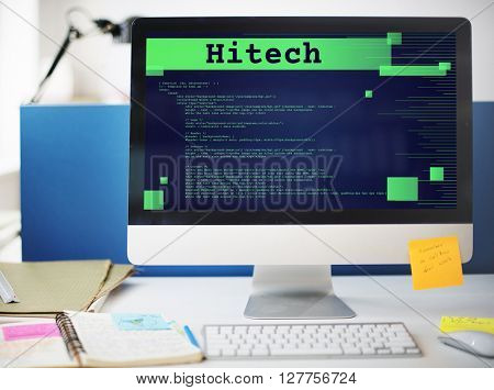 High Technology Development Programming Electronic Concept