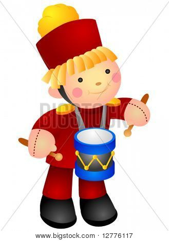 Drummer Doll - Vector