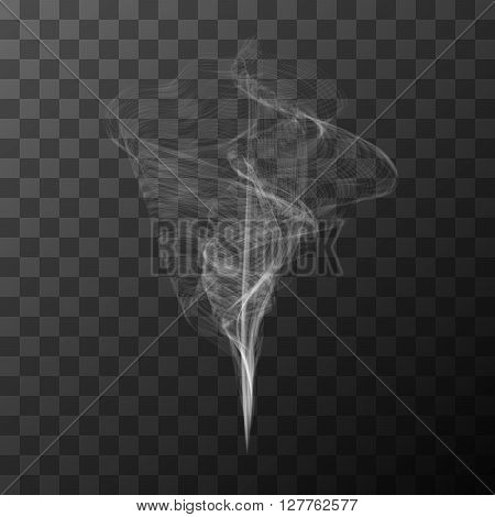 Transparent white smoke vector object without background