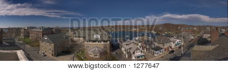 Woods Hole Lookout Panorama Massachusetts