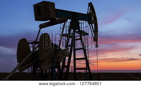 Oil and gas well, in remote rural area in Europe