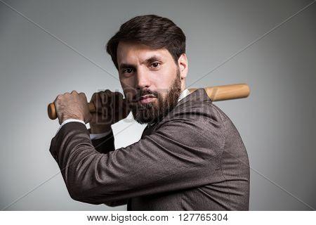 Businessman Bat Action